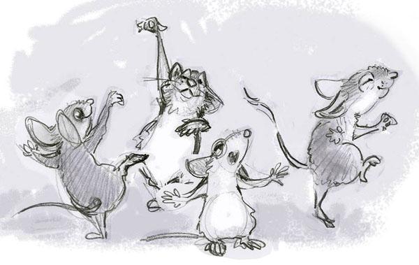 Кот из дома мыши в пляс картинка